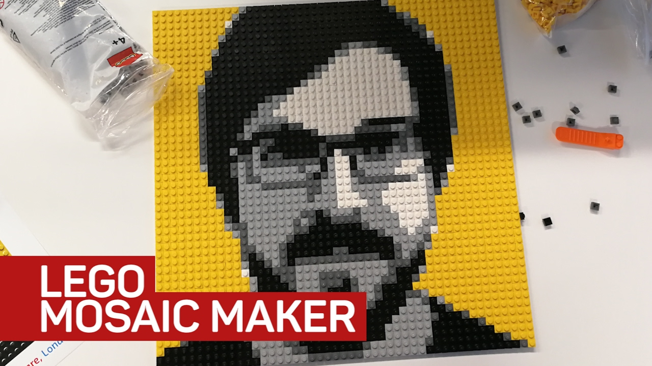 I built a Lego mosaic of my face and you can too