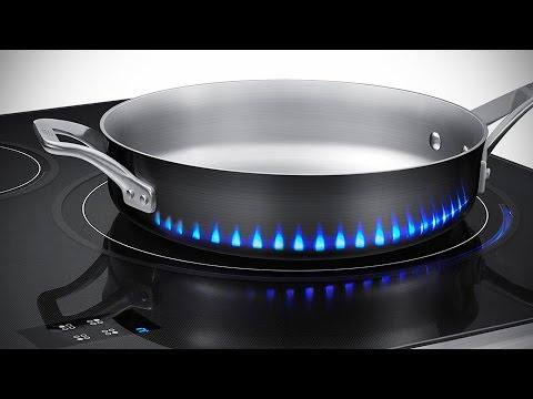 Samsung Induction Stove Has Fake Flames to Tell You How Hot is the Stove