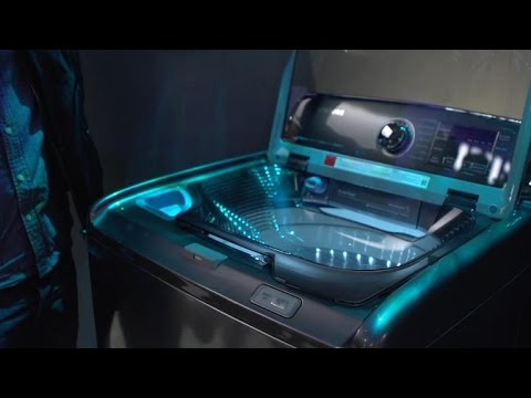Samsung's new washing machine has a built-in sink Samsung's new washing machine has a built-in sink