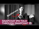 The Snap IPO told through Snapchat, of course
