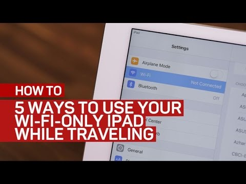 CNET How To – 5 ways to use your Wi-Fi-only iPad while traveling