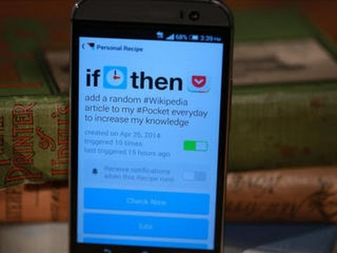 CNET How To – Use IFTTT to automate your Android