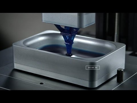 Crave – 3D-printed objects emerge from pool of photosensitive liquid, Ep. 196