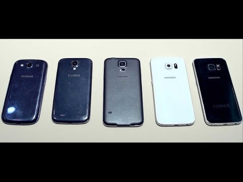 Galaxy S6 and S6 Edge design compared with S5, S4 and S3