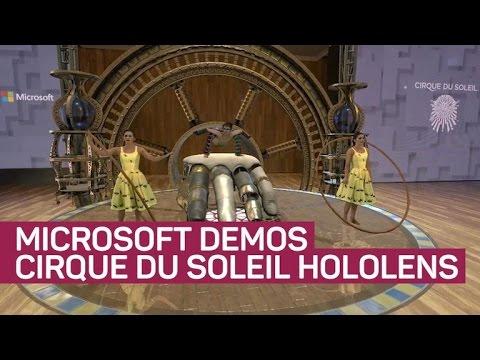 Microsoft shows wild demo of Cirque du Soleil inside HoloLens
