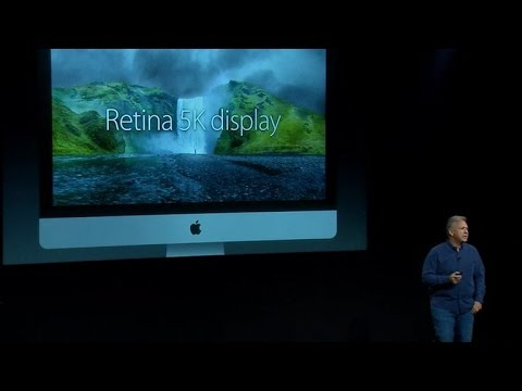 New iMacs feature a thin, high-resolution screen