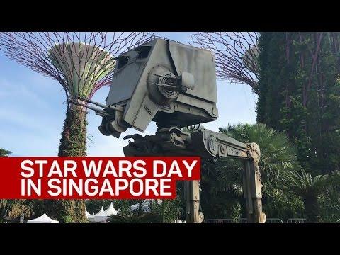 Singapore celebrates Star Wars Day with 'sabertrees'