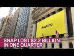 Snap posts massive $2.2 billion loss