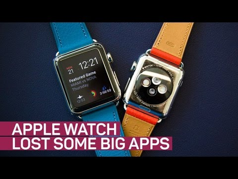 Apple Watch loses some big apps (CNET News)