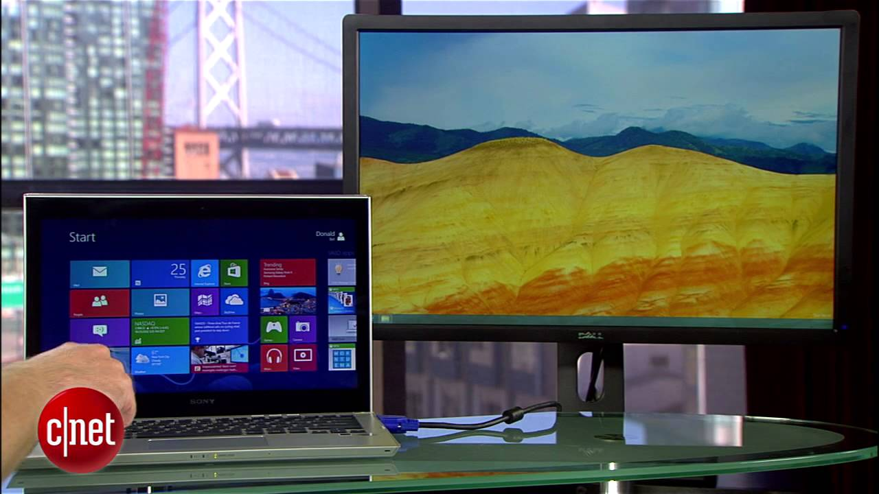 CNET How To – Run Windows 8 desktop on a second monitor