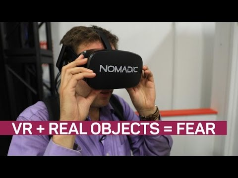 Feel the fear when real objects meld with VR (CNET News)