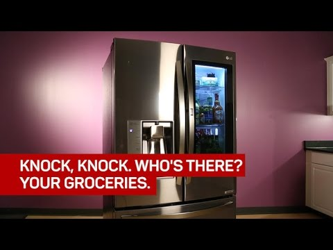 Knock on LG's 'InstaView' fridge and it'll show you your groceries