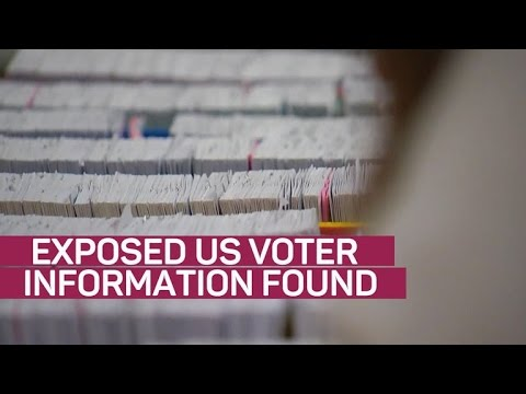 Massive trove of exposed US voter information found