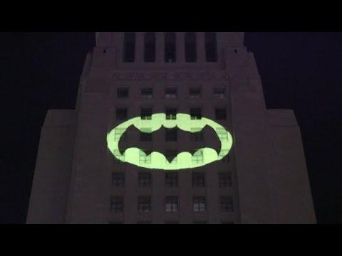 The bat signal lights up LA