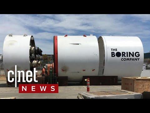 Elon Musk's boring machine digs deep