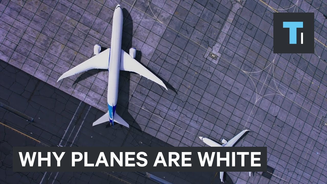 Here's why most planes are white