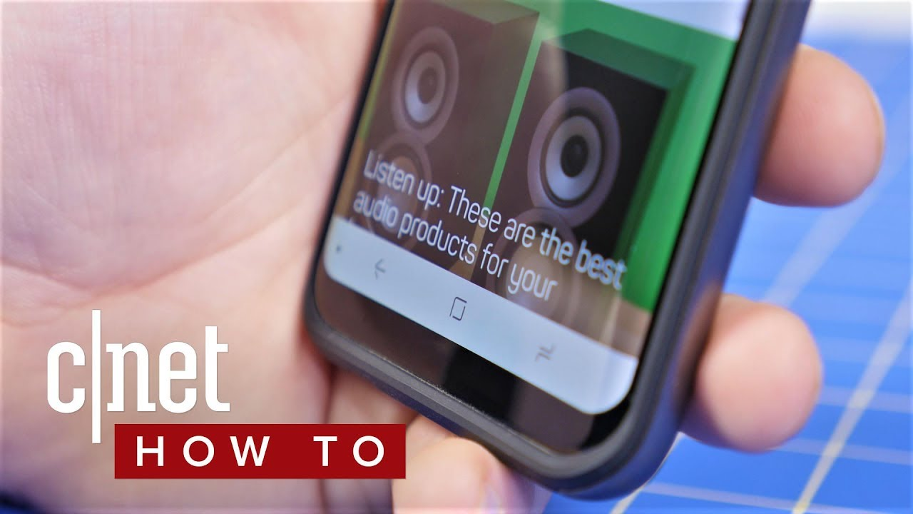 How to hide the navigation bar on the Galaxy S (CNET How To)