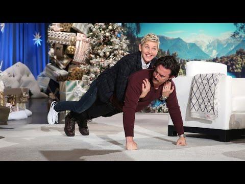 Milo Ventimiglia and Ellen's 'Partner Push-Ups'