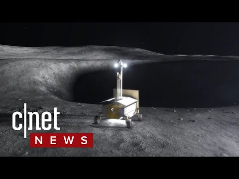 Robots will mine the moon for water in the dark (CNET News)