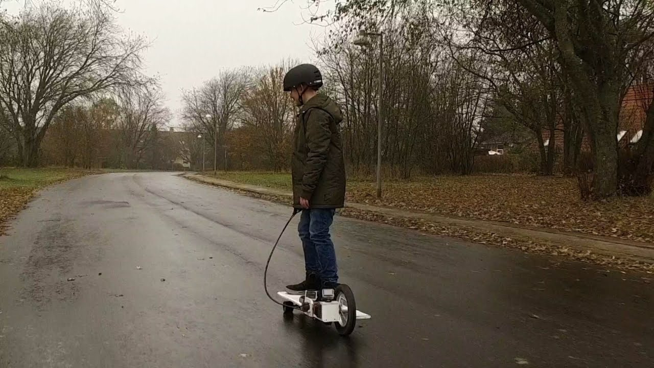 See How This Kid Built His Own Electric Scooter