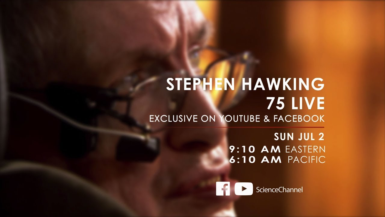 STREAMING LIVE SUNDAY | Hear From Stephen Hawking At His 75th Birthday Celebration