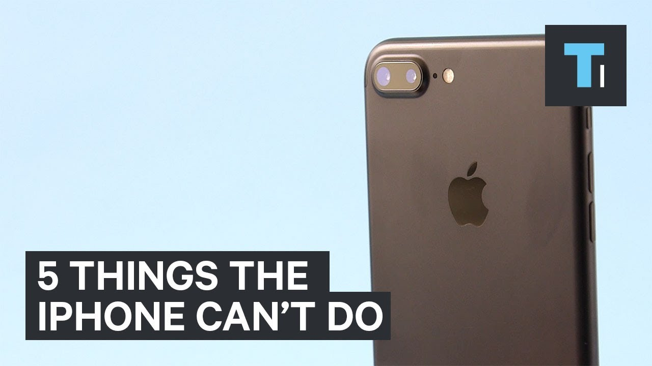 5 things the iPhone still can't do