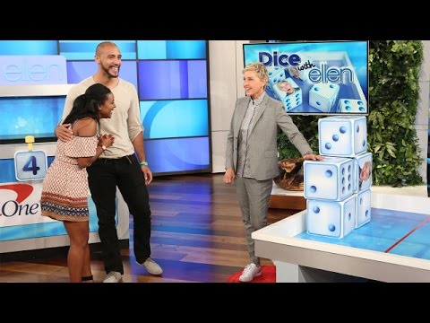 A Cute Couple Plays 'Dice with Ellen'