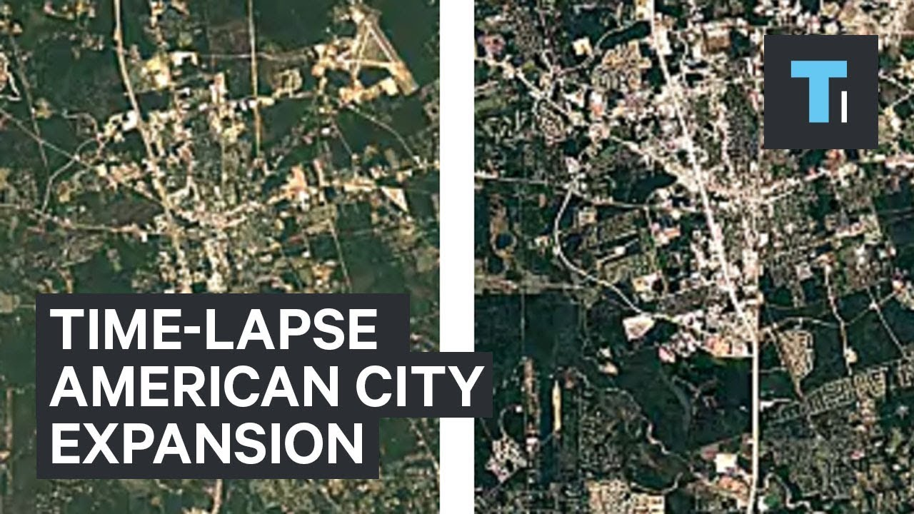 Amazing time-lapses show how much America has changed.