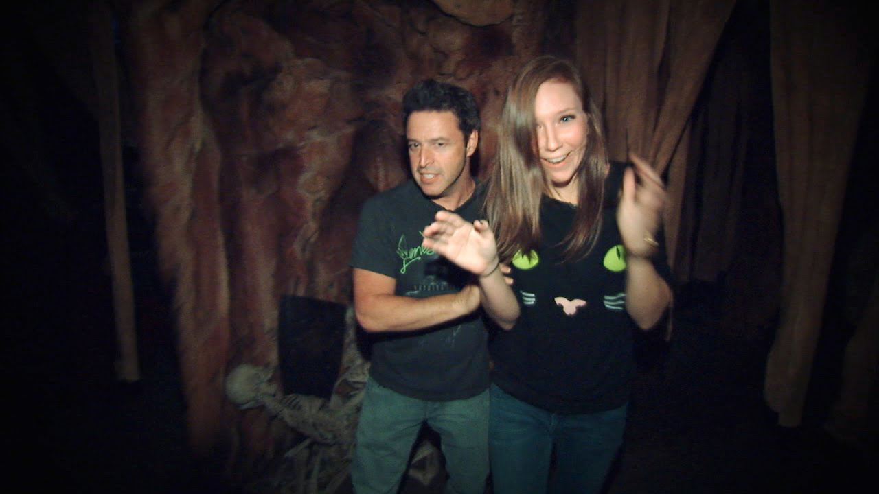 Andy and Jacqueline Brave the Haunted House