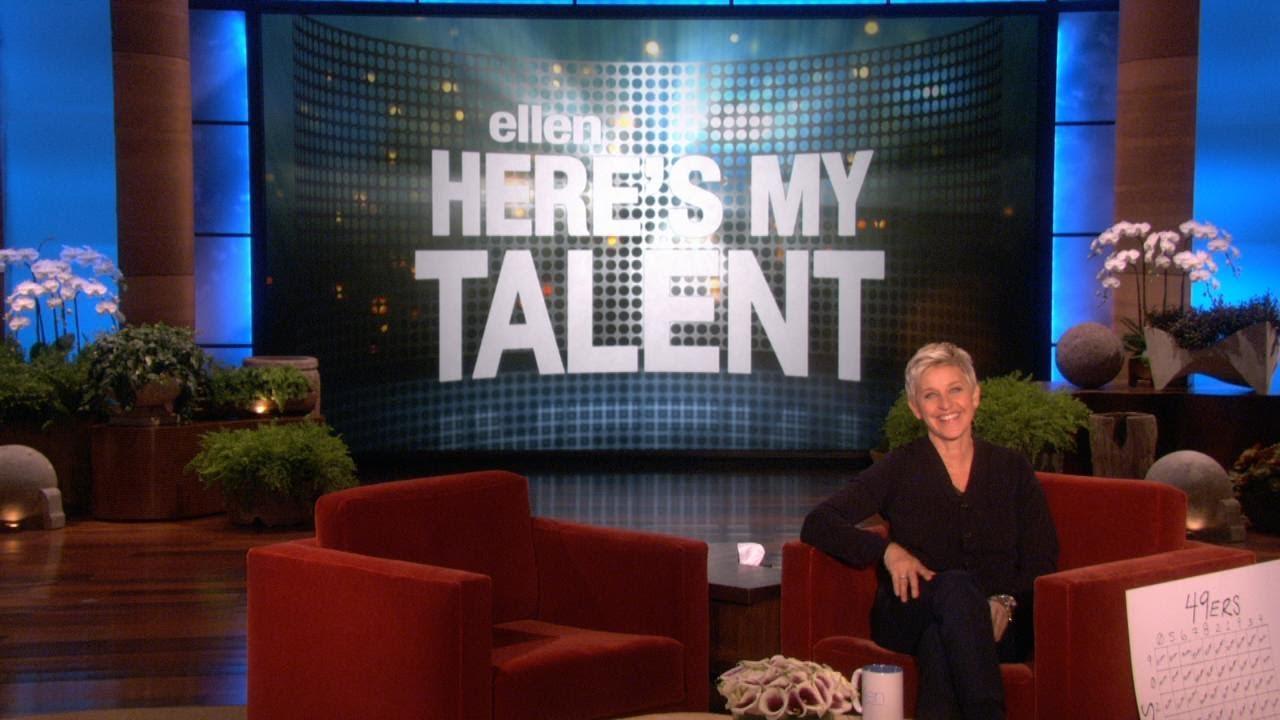 Ellen, Here's My Talent!