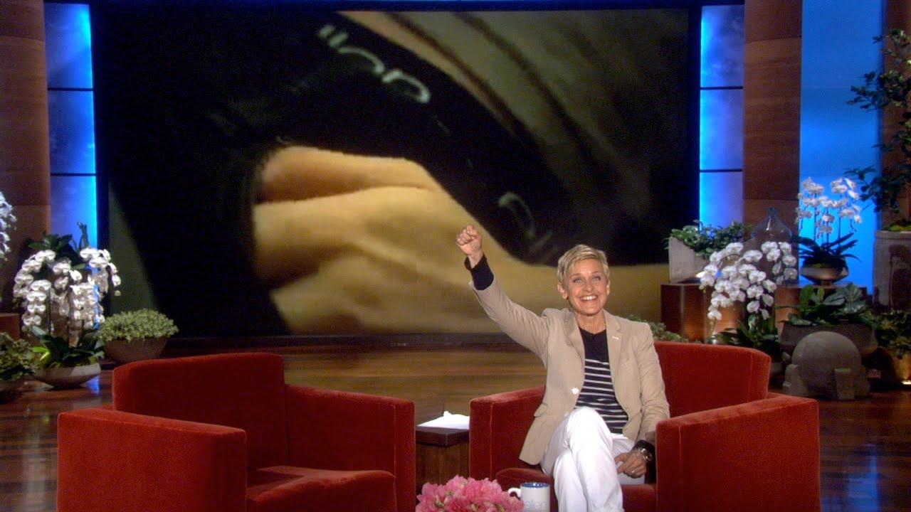 Ellen in a Trojan Commercial?
