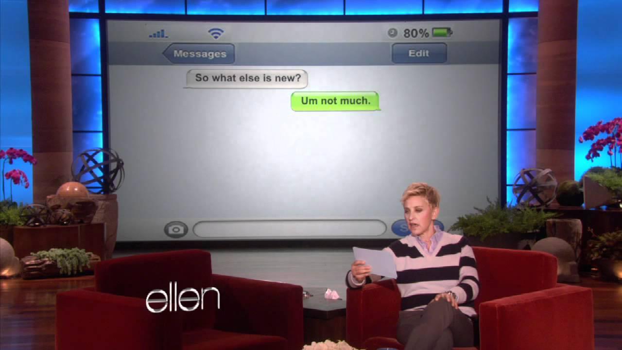 Ellen's Got Clumsy Thumbsy