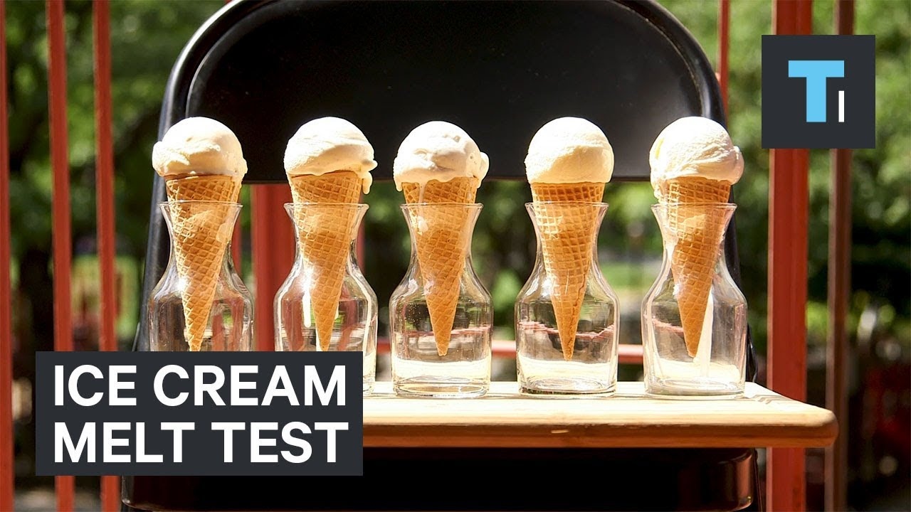 How fast 5 popular ice cream brands melt