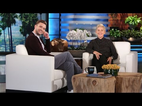 Justin Timberlake 'Can't Stop the Feeling' with Ellen!