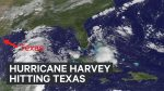 NASA footage Hurricane Harvey headed to Texas
