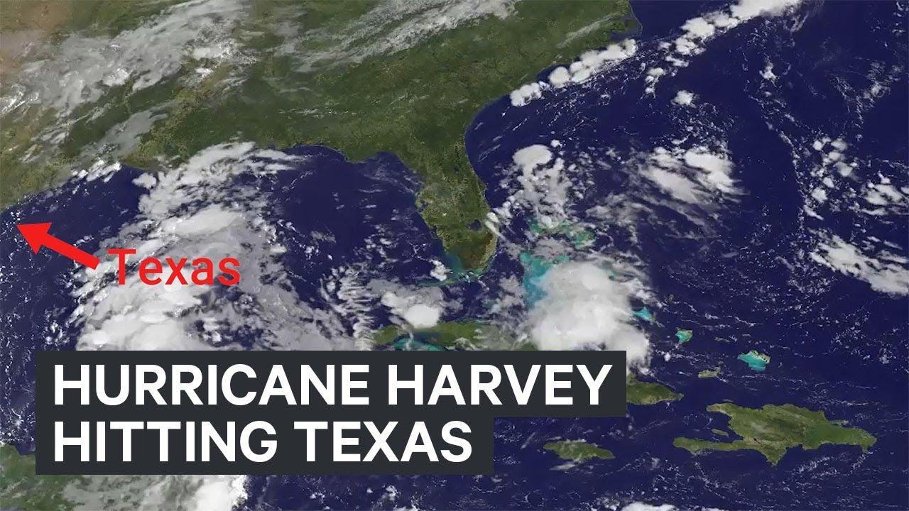 NASA footage Hurricane Harvey headed to Texas