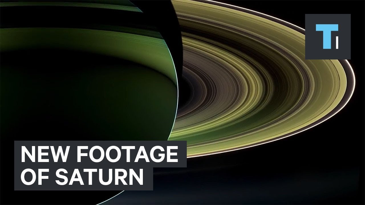 New NASA video of Saturn with stunning real images from Cassini