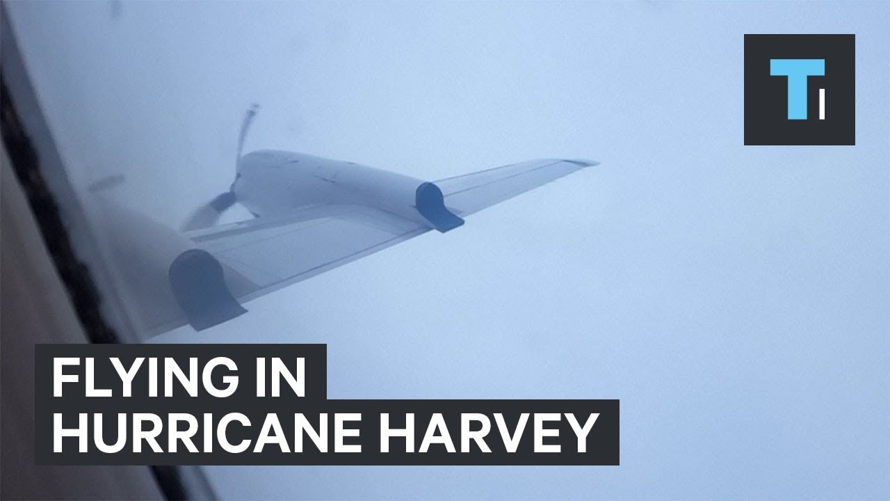 Pilots flew directly into Hurricane Harvey to collect data