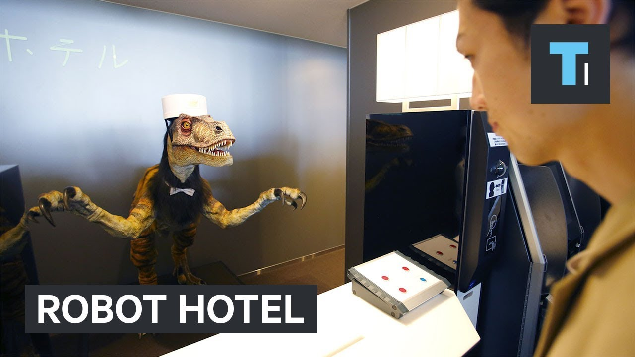 Robots look after visitors in this hotel in Japan