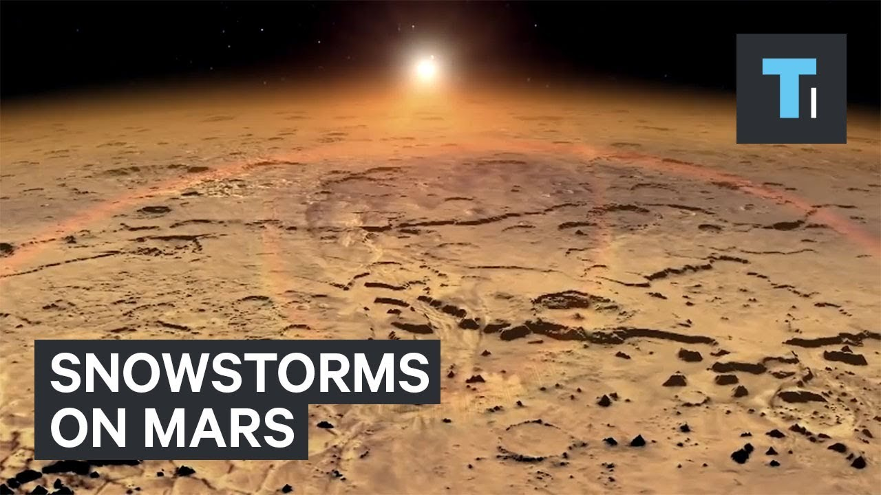 Snowstorms could happen nightly on Mars