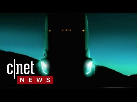 Tesla's semi truck may get 200 to 300 miles on a charge (CNET News)