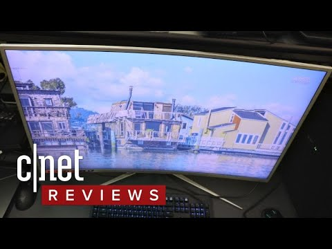 The AOC C4008VU8 monitor delivers big color to the big screen