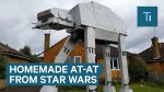 "A man built a giant model of a ""Star Wars"" AT-AT in his yard"