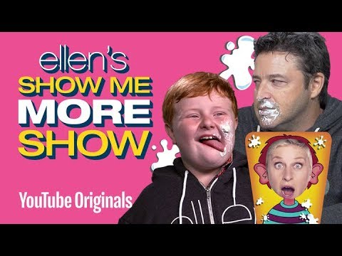 Andy Lassner and Noah Ritter Play Pie Face