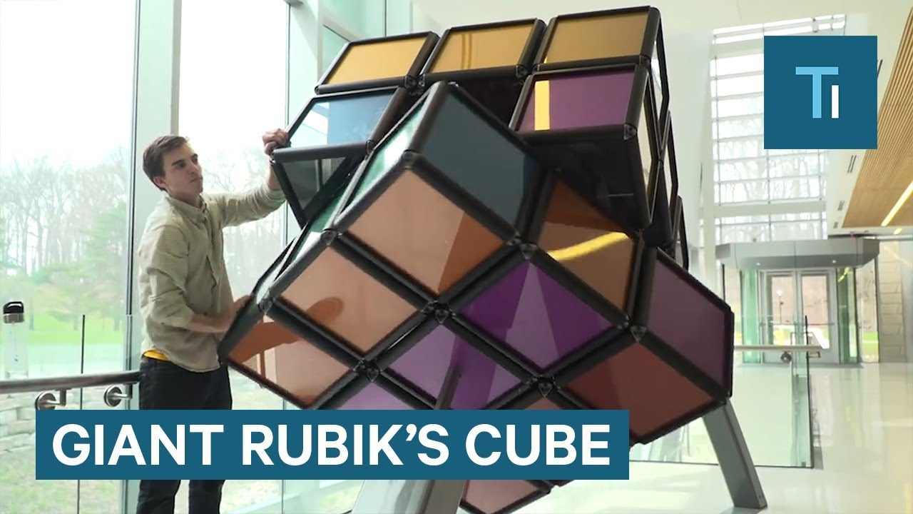 Could you solve this 1,500-pound Rubik's Cube