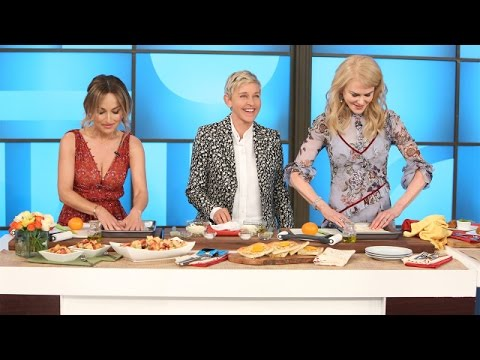 Ellen and Nicole Kidman Try to Learn Cooking Skills from Giada De Laurentiis