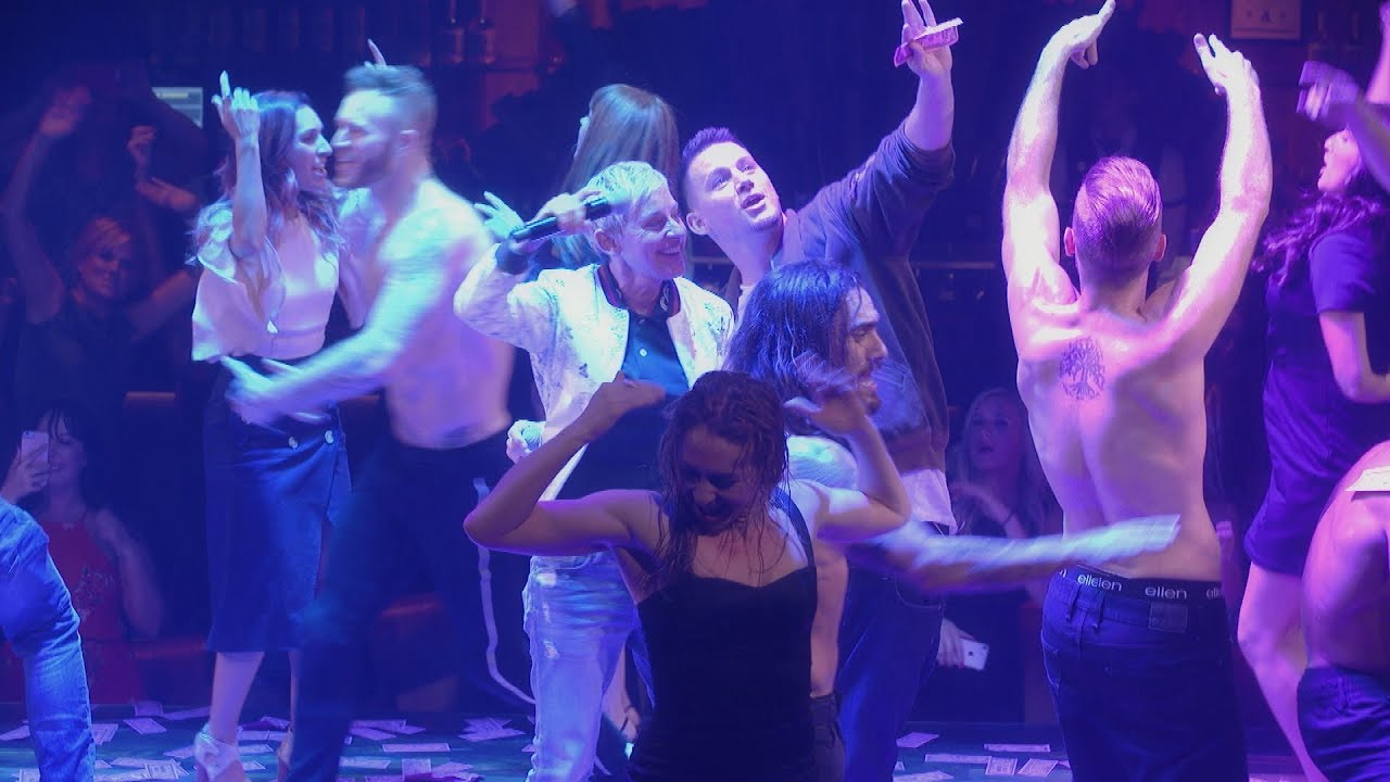 Ellen & Channing Tatum Get Rowdy at 'Magic Mike Live'