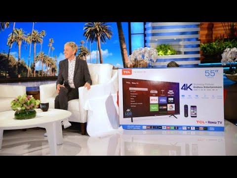 Ellen Surprises Audience With Brand New TCL Roku TVs!