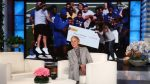 Ellen Surprises Coach Alonzo Carter & San Jose State University Football Team