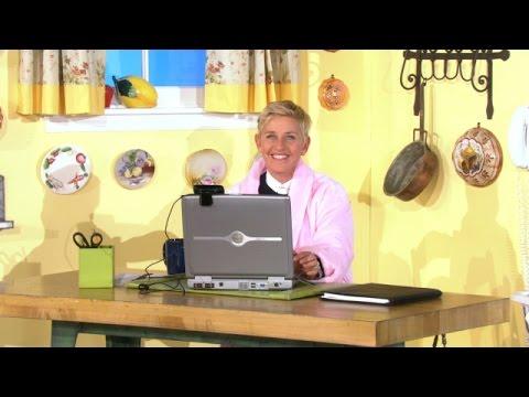 Ellen Works from Home